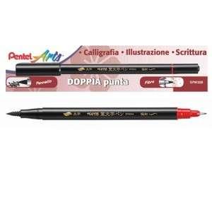 Fineliner Pennello Doppia Punta Pentel Pentel Arts Nero