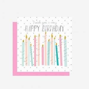 BIGLIETTO AUGURI  7x7cm Compleanno