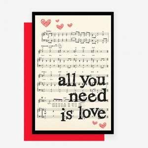 BIGLIETTO AUGURI 12x18cm Amore