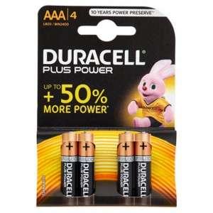 PILE DURACELL ALKALINE AAA/LR03 MICROSTILO 1,5V BLISTER 4pz