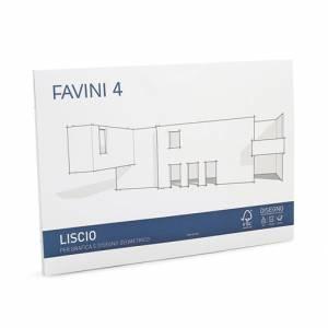ALBUM FAVINI 4 CARTANGOLI 20 FOGLI 24x33cm-LISCIO