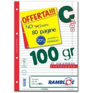 Ricambio Forato c/Rinforzo A4 100gr Riga C