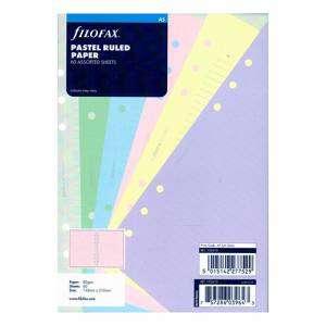 REFILL 15x21cm FILOFAX A5 60fg Righe colori ass.ti