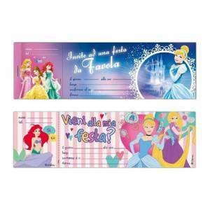 Inviti Festa 10pz Principesse
