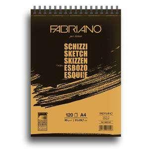 ALBUM FABRIANO SCHIZZI 120 FOGLI 90gr A4