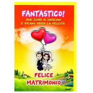 BIGLIETTO CON BUSTA 12x18cm MATRIMONIO