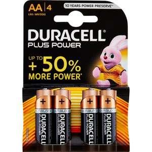 Pile AA/LR6 Stilo 1,5V Alkaline Duracell 4pz