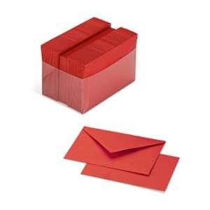 Biglietto+Busta  9x14cm 100pz Favini Rosso