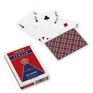 Carte Gioco Dal Negro Poker Italia Rosso