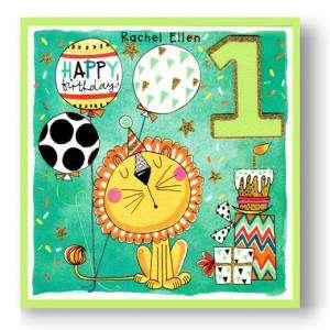 Biglietto Compleanno-1 anno 15x15cm