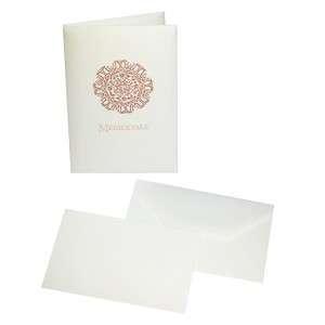 Biglietto+Busta 13,5x19cm 10pz Kartos Medioevale Bianco
