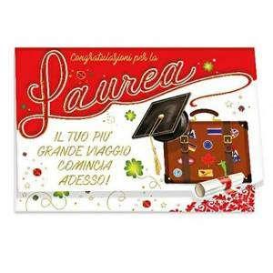 Biglietto Laurea porta Soldi 12x18cm