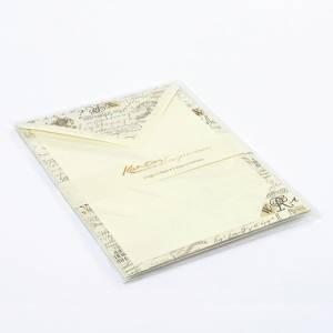 Carta Lettera/Buste 5pz Kartos Calligraphy