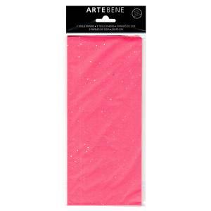 Carta Velina 50x70cm 3fg Glitter Rosa