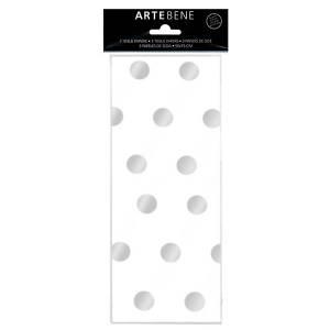 Carta Velina 50x70cm 3fg Pois Argento