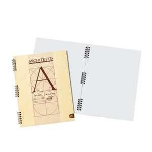 Quaderno c/Spirale 21x30cm  80pag Pigna Architetto Bianco