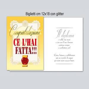 Biglietto Diploma 12x18cm