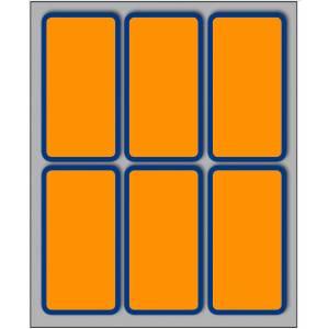Etichette Adesive  70x37mm 60pz Bordo/Arancio Fluo