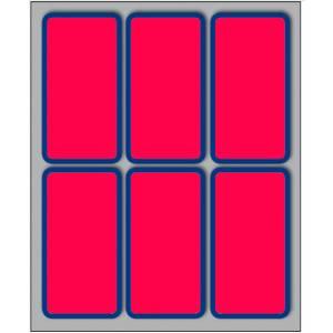 Etichette Adesive  70x37mm 60pz Bordo/Rosso Fluo
