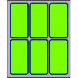 Etichette Adesive  70x37mm 60pz Bordo/Verde Fluo