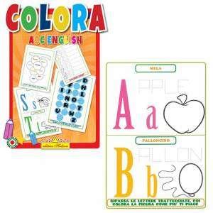 Libro Colora ABC English