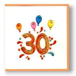 Biglietto Compleanno 30 anni Filigrana 15x15cm