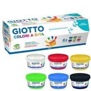 Set Colori a dita Giotto 100ml 6 Colori