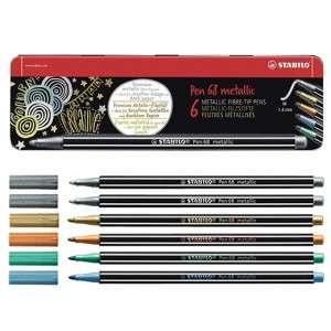 Pennarelli Stabilo Pen 68 6pz Metallic