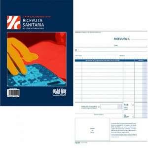 Blocco Ricevute Sanitarie 15x21cm 50fg 2 Copie carta Chimica