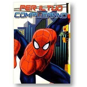 Biglietto Compleanno 12x18cm Spiderman