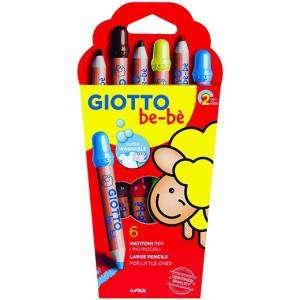 Matite Colorate Giotto Bebè 6pz + Temperino