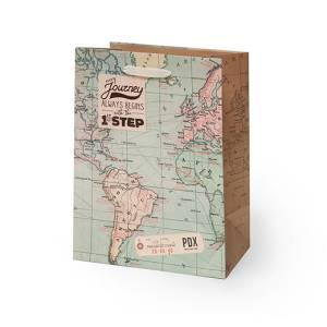 Sacchetto 19x25x11,5cm Legami Map