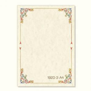 Carta Pergamena A4 160gr 1fg Avorio c/Disegno