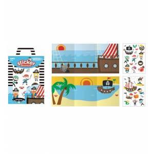 Stickers Attacca/Stacca +3 Apli Kids c/Scenario Pirates