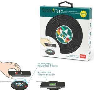 Caricabatterie Wireless per Smartphone Legami Disco Vinile
