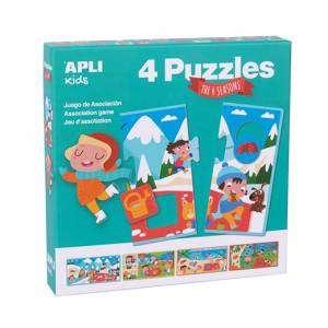 Gioco 3+ Apli Kids Puzzle 4pz Le 4 Stagioni