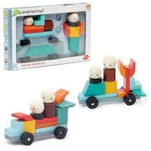 Gioco 3+ Tender Leaf Toys Racing Magblocs