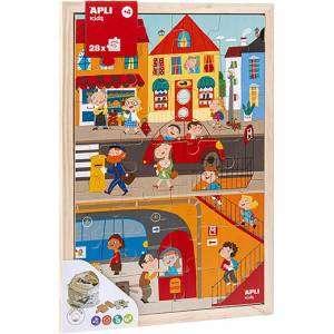 Gioco 4+ Apli Kids Puzzle 28pz Levels City in Legno