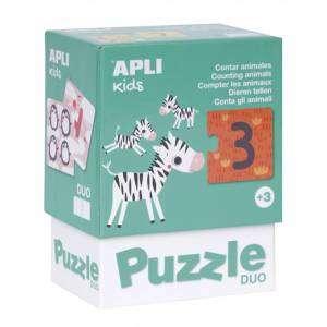 Gioco 3+ Apli Kids Puzzle Duo 24pz Conta gli Animali