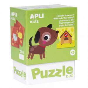 Gioco 3+ Apli Kids Puzzle Duo 24pz Dove Dormono?