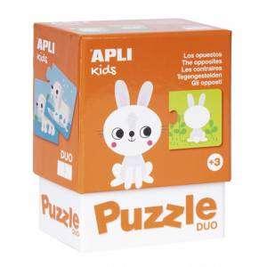 Gioco 3+ Apli Kids Puzzle Duo 24pz Gli Opposti