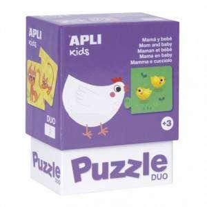 Gioco 3+ Apli Kids Puzzle Duo 24pz Mamma e Cucciolo