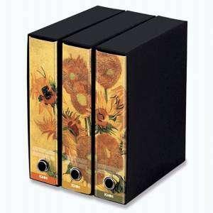 Registratore 2 Anelli 29x35x8cm c/scatola Set 3pz Kaos Van Gogh/Girasoli