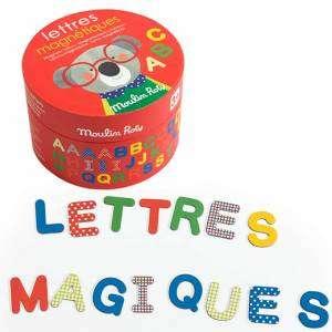 Gioco 3+ Moulin Roty Lettere Magnetiche Les Popipop 54pz