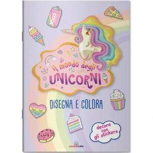 Album da Colorare c/Stickers Lisciani Il Mondo degli Unicorni