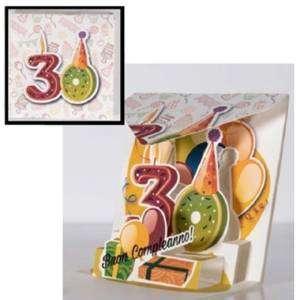 Biglietto Compleanno 30 anni Abbracci 12x12cm