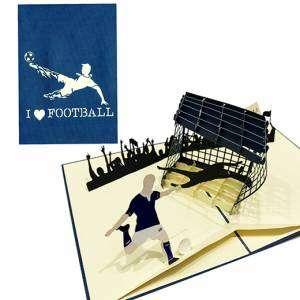 Biglietto 3D Calcio 13x18cm