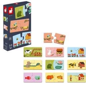 Gioco 2-5+ Janod Puzzle Duonimo x10