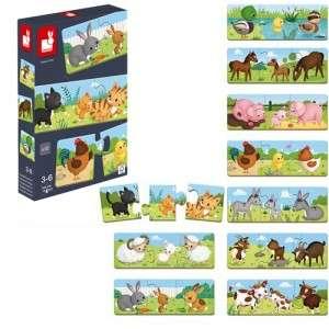 Gioco 3-6+ Janod Puzzle Trionimo x10