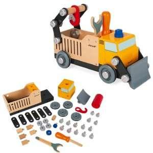 Gioco 3-8+ Janod Camion Costruzioni Brico'Kids in Legno